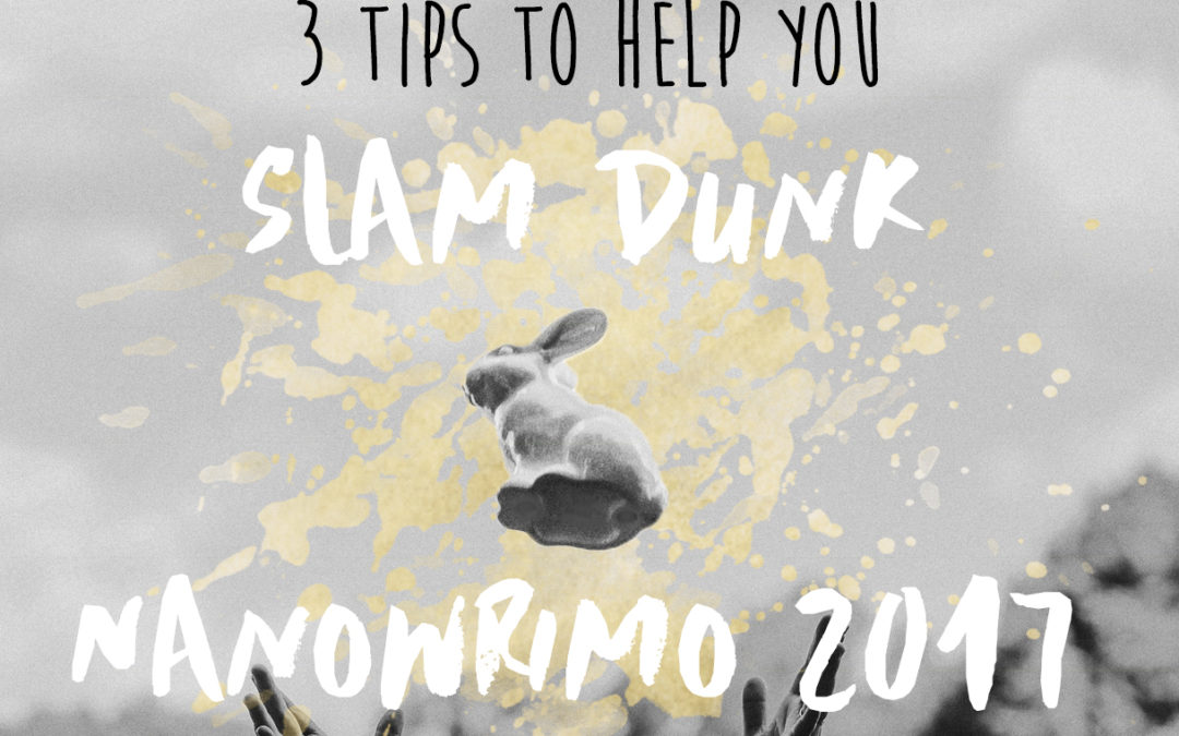 3 Tips to Help you Slam Dunk NaNoWriMo 2017